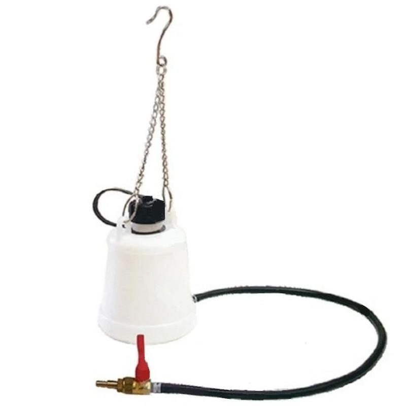 Benzinetank, brandstoftank 1 ltr. Met kraan